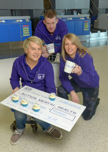 L-R Callum Clark, Events Fundraiser AMH; Gavin McConvey, Fundraising Manager AMH and Tricia Browne, Communications Manager AMH.
