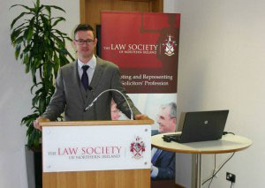 Gary Kane at Law Society NI