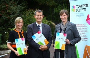 Amanda Jones, Project Manager, Minister Edwin Poots MLA and Julie Harrison, Committee Member from Big Lottery Fund