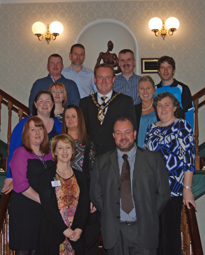 The staff from AMH New Horizons Craigavon & Banbridge