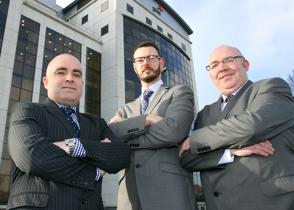 Brendan Miskelly PWC, Gary Kane AMH Works and Dwyer Gorman Allstate NI