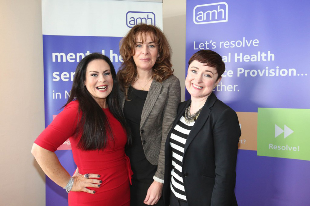 Brenda Shankey; Professor Deirdre Heenan, Pro-Vice-Chancellor of Ulster University and Professor Siobhan O'Neill, Professor of Mental Health Sciences at Ulster University