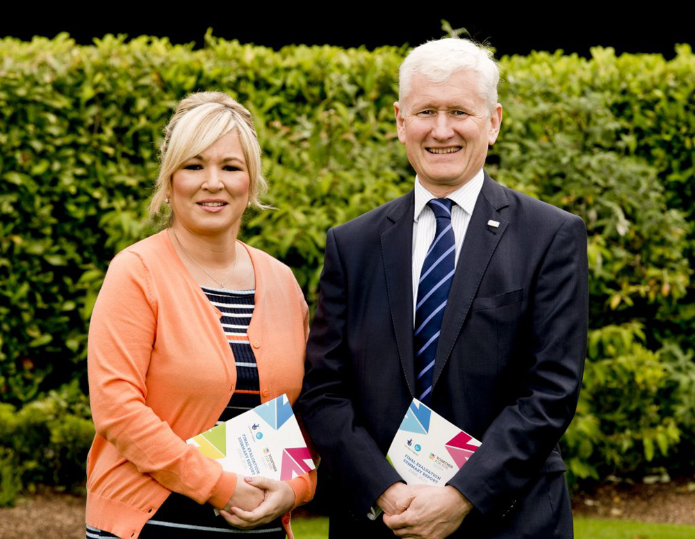 Minister of Health, Michelle OÕNeill MLA and David Babington, Chief Executive of Action Mental Health, Lead Partner for Together for You